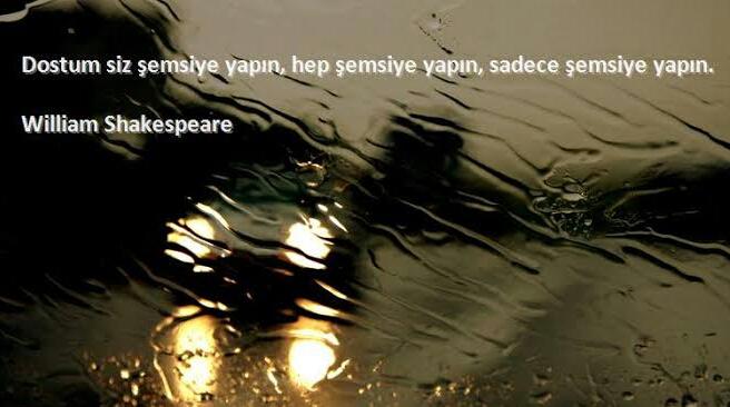 yağmur ile ilgili sözler